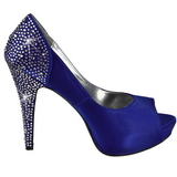 Bleu Strass 13 cm LOLITA-08 Chaussures Escarpins de Soirée