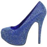 Bleu Strass 14,5 cm Burlesque TEEZE-06R Talons Aiguilles Escarpins