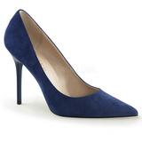 Bleu Suède 10 cm CLASSIQUE-20 Escarpins Talon Aiguille Femmes