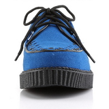 Bleu Suede 2,5 cm CREEPER-602S Chaussures Creepers Hommes