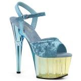 Bleu Velours 18 cm ADORE-709MCT sandales de pole dance