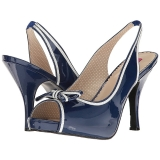 Bleu Verni 11,5 cm PINUP-10 grande taille sandales femmes
