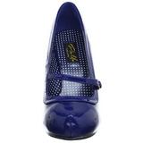 Bleu Verni 12 cm retro vintage CUTIEPIE-02 escarpins mary jane plateforme cachée