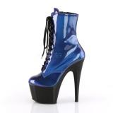 Bleu Verni 18 cm ADORE-1020SHG bottines de pole dance