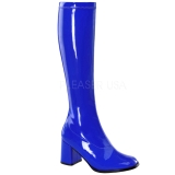 Bleu Verni 7,5 cm Funtasma GOGO-300 Bottes Femmes