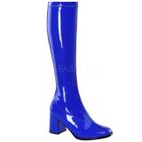 Bleu Verni 8,5 cm GOGO-300 Bottes Femmes pour Hommes