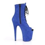 Bleu faux suede 20 cm FLAMINGO-1021FS bottines de pole dance