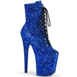 Bleu glitter 20 cm FLAMINGO-1020GWR exotic bottines de pole dance