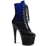 Bleu paillettes 18 cm ADORE-1020OMB bottines de pole dance