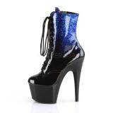 Bleu paillettes 18 cm ADORE-1020OMB bottines de pole dance