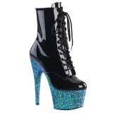 Bleu paillettes 18 cm Pleaser ADORE-1020LG bottines de pole dance