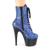 Bleu paillettes 18 cm Pleaser ADORE-1020MG bottines de pole dance