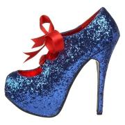 Bleues Etincelle 14,5 cm TEEZE-10G Concealed burlesque escarpins à talon aiguille bout pointu