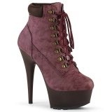 Bordeaux Suédine 15 cm DELIGHT-600TL-02 bottines pleaser plateforme