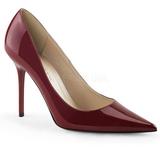 Bordeaux Verni 10 cm CLASSIQUE-20 grande taille chaussures stilettos