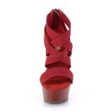 Bordeaux bande élastique 15 cm DELIGHT-669 chaussures pleaser à talon femme