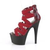 Bordeaux bande élastique 18 cm ADORE-748SP chaussures pleaser à talon femme