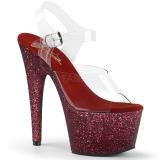 Bordeaux paillettes 18 cm Pleaser ADORE-708HMG chaussure à talons de pole dance