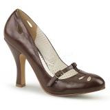 Brun 10 cm SMITTEN-20 Pinup escarpins femmes à talons bas