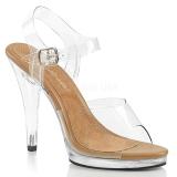 Brun 11,5 cm FLAIR-408 chaussures travesti