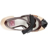 Brun 11,5 cm retro vintage BETTIE-19 Chaussures pour femmes a talon