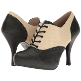 Brun Similicuir 11,5 cm PINUP-07 grande taille chaussures oxford