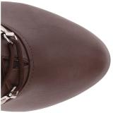 Brun Similicuir 12,5 cm EVE-106 grande taille bottines femmes