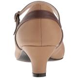 Brun Similicuir 5 cm FAB-425 grande taille escarpins femmes