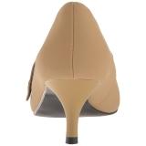 Brun Similicuir 6,5 cm KITTEN-03 grande taille escarpins femmes