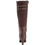 Brun Similicuir 7,5 cm DIVINE-2018 grande taille bottes femmes