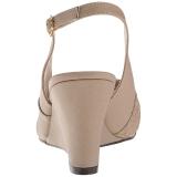 Brun Similicuir 7,5 cm KIMBERLY-01SP grande taille sandales femmes