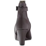 Brun Similicuir 7,5 cm KIMBERLY-102 grande taille bottines femmes