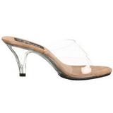 Brun Transparent 8 cm BELLE-301 Chaussures Mules pour Hommes