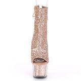 Brun etincelle 18 cm ADORE-1018G bottines a plateforme femmes