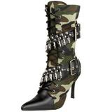 Camouflage 9,5 cm MILITANT-128 Bottines Talons Hauts Femmes