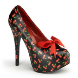 Cerise Noir 14,5 cm TEEZE-12-6 Chaussures pour femmes a talon