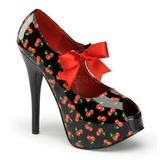 Cerise Noir 14,5 cm TEEZE-25-3 Chaussures pour femmes a talon