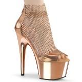 Chaussure dorée talon haut 18 cm ADORE-765RM etincelle talons hauts plateforme