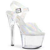 Chaussure hologramme talon haut plateforme 18 cm SKY-308N JELLY-LIKE matériau extensible