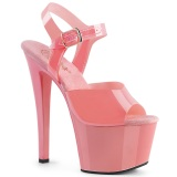 Chaussure roses talon haut plateforme 18 cm SKY-308N JELLY-LIKE matériau extensible