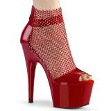 Chaussure rouge talon haut 18 cm ADORE-765RM etincelle talons hauts plateforme