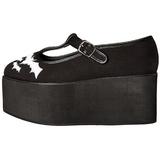 Chauve souris toile 8 cm CLICK-04-2 plateforme chaussures lolita