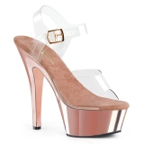 Chrome 15 cm Pleaser KISS-208 Plateforme Chaussures Talon Haut