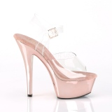 Chrome 18 cm Pleaser KISS-208 Plateforme Chaussures Talon Haut