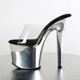 Chrome 18 cm Pleaser RADIANT-701 mules talons hauts