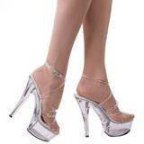 Completer 15 cm KISS-206 Chaussures Plateau Talon Haut