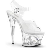 Completer 18 cm MOON-708TG Chaussures Plateau Talon Haut