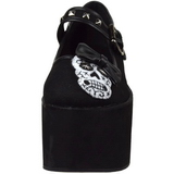 Crâne toile 8 cm CLICK-02-3 plateforme chaussures lolita