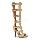 Creme 11,5 cm GLADIATOR-208 spartiates hautes genoux sandales gladiateur