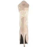 Creme Similicuir 13,5 cm CHLOE-115 grande taille bottines femmes